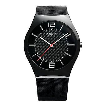 Bering mens watch wristwatch slim ceramic - 32039-449 Meshband