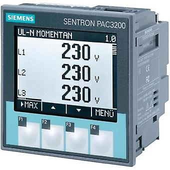 Siemens SENTRON PAC3200 Multifunctional measuring apparatus SENTRON PAC3200 Max. 3 x 690/400 Vac Assembly dimensions 92