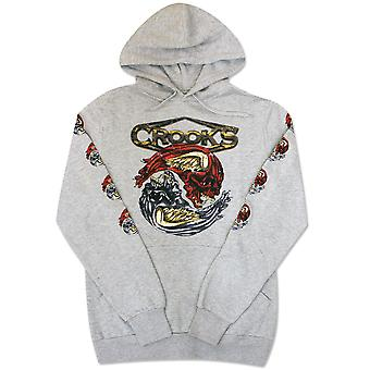 Gauner & Burgen Twin Medusa Pullover Hoodie Heather Grey