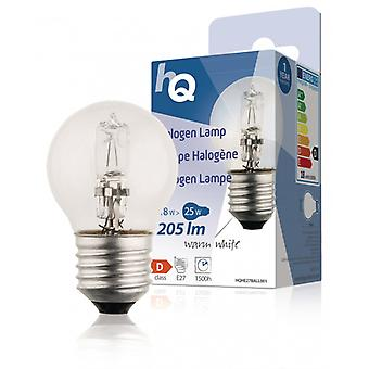HQ halogen lamp E27 in ball form 18 W 205 lm 2 800 K