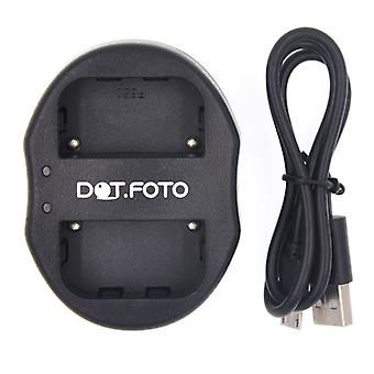Dot.Foto Sony NP-FM50 Dual USB Battery Charger