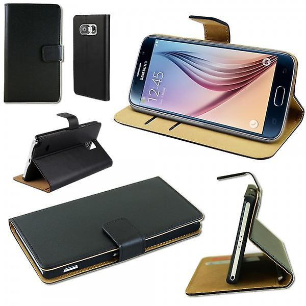 Wallet Deluxe case black for Samsung Galaxy S6 G920 G920F