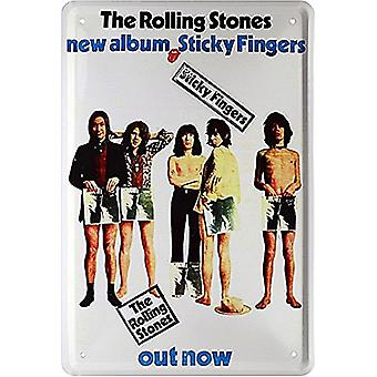 Rolling Stones Sticky Fingers metal sign   300mm x 200mm (jk)