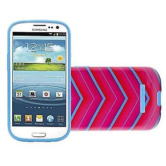 Body Glove Snap-On Case for Samsung Galaxy S4 (Glossy Pink and Teal Chevron Patt