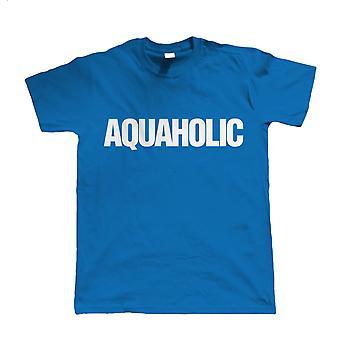 Aquaholic, Funny Mens Novelty T-Shirt