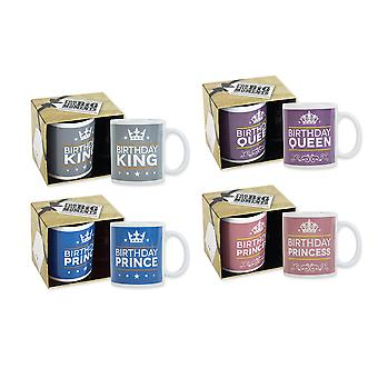 Birthday Boxed Mug Party Ideal for Home and Office Kitchen 4 Designs Mug Set