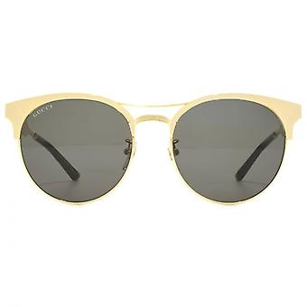 Gucci Metal Clubmaster Style Sunglasses In Gold