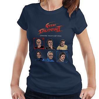 Geek Dilemma II Choose Your Captain Women's T-Shirt