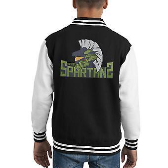 Draetheus 5 Spartans Halo Kid's Varsity Jacket