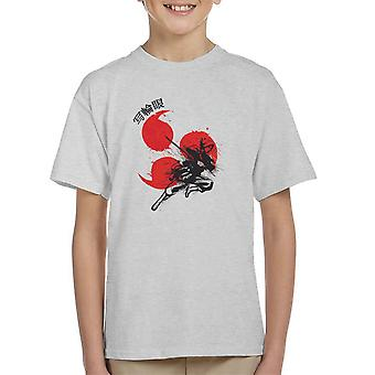 Rode Sun Sasuke Sharingan Naruto Kid's T-Shirt