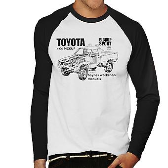 Haynes Workshop Manual Toyota Sport 4x4 Black Men's Baseball Long Sleeved T-Shirt