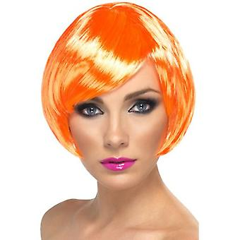 Smiffys Babe Wig Fire Coral Short Bob With Fringe (Costumes)