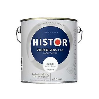 Histor Perfect Finish zijdeglanslak Zonlicht RAL 9010 2,5 l