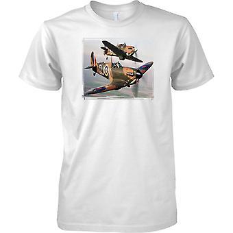 2 Spitfires fliegen - Welt-Krieg-2-Flugzeuge - Kinder T Shirt