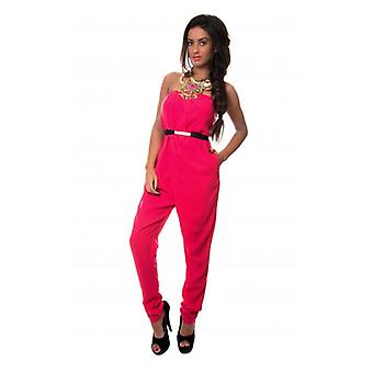 Der Mode-Bibel Bonita Strapless Overall In Fuchsia
