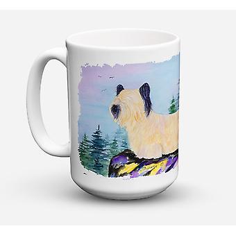 Skye Terrier lavastoviglie sicuro Microwavable Ceramic Coffee Mug 15 oncia