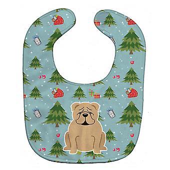 Carolines Treasures  BB4784BIB Christmas English Bulldog Fawn Baby Bib