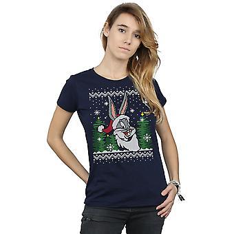 Looney Tunes Women's Bugs Bunny Christmas Fair Isle T-Shirt