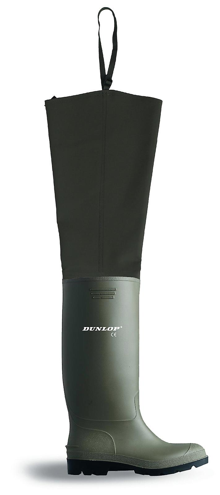 Ptwf Full Dunlop Safety Wader Pvc Green Thigh Dunlop q0Yata