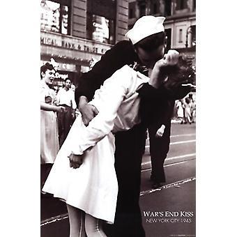 Baciare la guerra Addio VJ Day volte quadrato 14 agosto 1945 Poster Poster stampa di Lt Victor Jorgensen