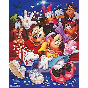Mickey & Friends At the Movies Poster Print by Walt Disney (16 x 20)