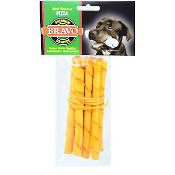 Bravo Palito Twist Pizza 5 'Pack 10 units (Dogs , Treats , Bones)
