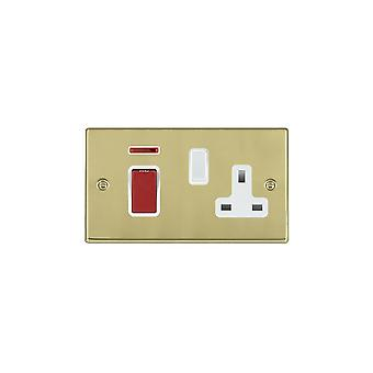 Hamilton Litestat Hartland Polished Brass 45DP + Neon+SS1 WH/Red/WH