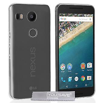 Yousave tilbehør LG Nexus 5 X 0,6 mm ultra-tynd Gel sag - klar
