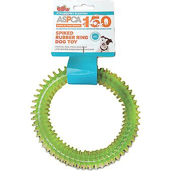 ASPCA Spiked Rubber Ring Dog Toy-Green AS11126-GREEN