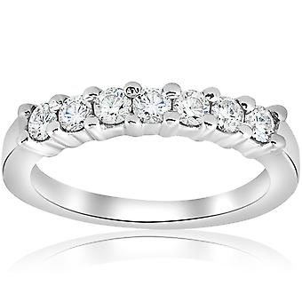 1/2ct Diamond Wedding Ring 14K White Gold