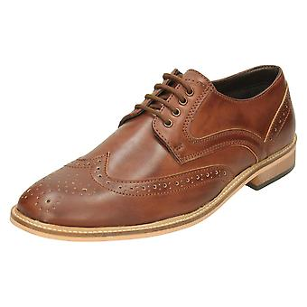 Mens Lambretta Formal Shoes 21004 - Tan Synthetic - UK Size 12 - EU Size 48 - US Size 13