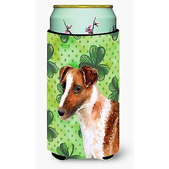 Smooth Fox Terrier St Patrick's Tall Boy Beverage Insulator Hugger