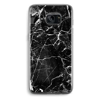 Samsung Galaxy S7 Edge Transparent Case - Black Marble 2