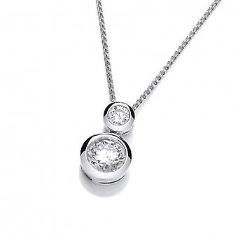 Cavendish French Double Up Silver and CZ Pendant without Chain