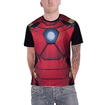 Iron Man T Shirt Iron Man costume new Official Marvel Mens Sub Dye print