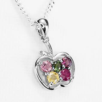 Shipton and Co Ladies Shipton And Co Silver And Tourmaline Pendant Including A 18 Silver Chain TFE083TT