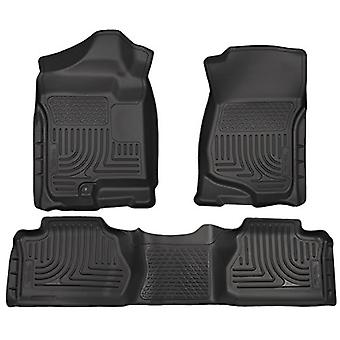 Husky Liners Front&2nd Seat Floor Liners Fits 07-13 Silverado/Sierra Extended