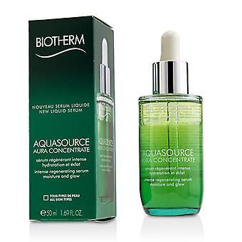 Biotherm Aquasource Aura Concentrate Intense Regenerating Serum - Suitable For Sensitive Skin - 50ml/1.69oz
