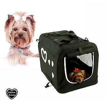 Valentina Valentti Pet Dog Folding Carrier Transport Crate