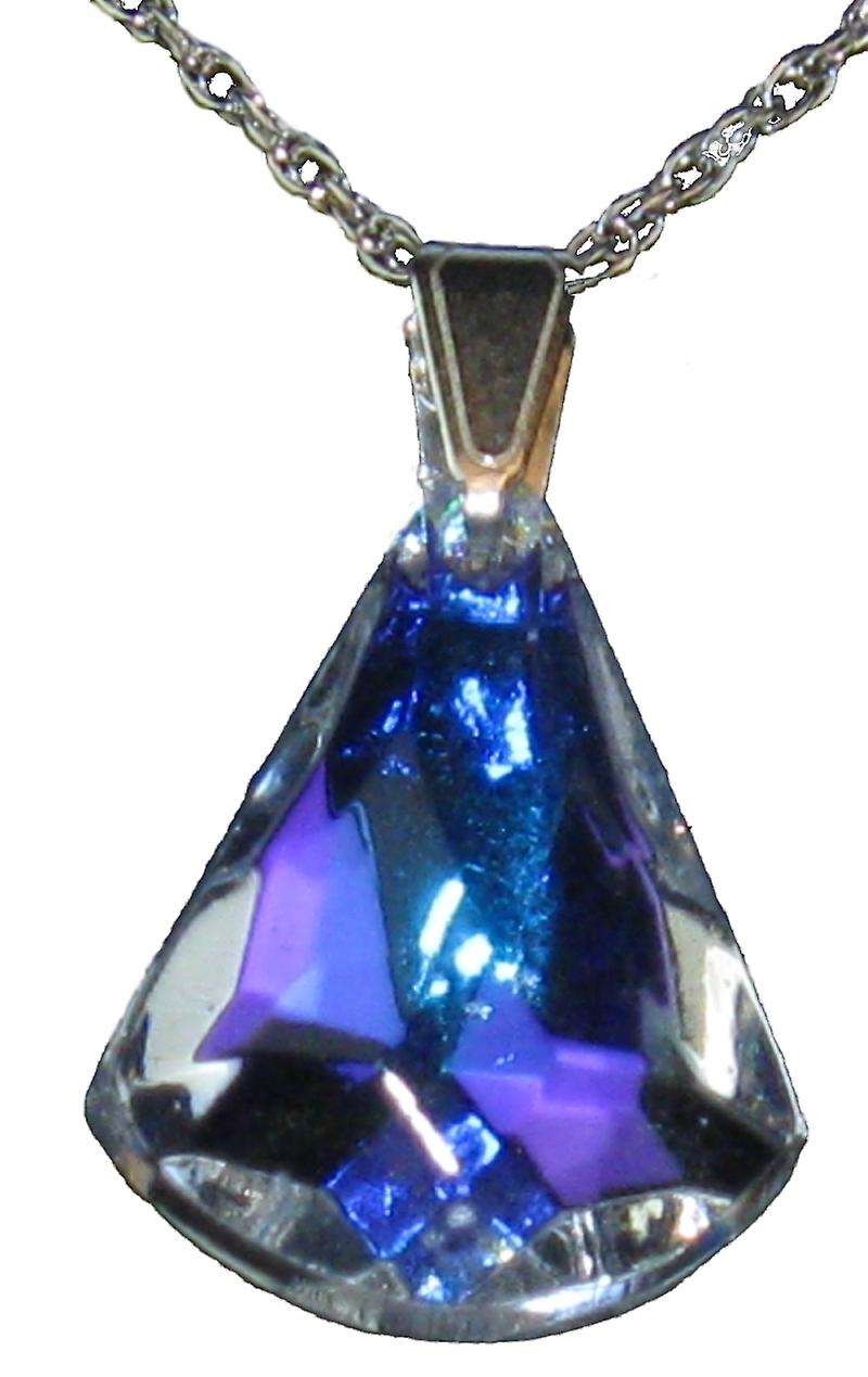Aurora Borealis Small Icicle Pendant Crystal