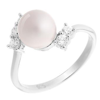Orphelia Silber 925 Ring rosa Perle Zirkon ZR-7117