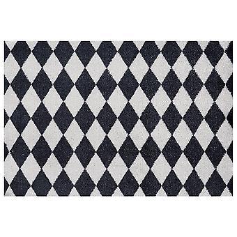 Washable mats circus black grey