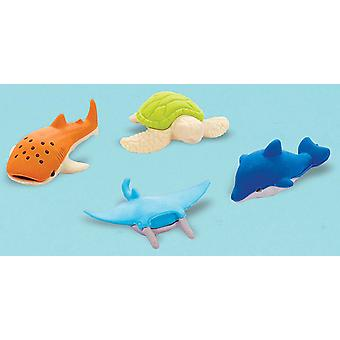Party Favors 12/Pkg-Sea Animal Erasers