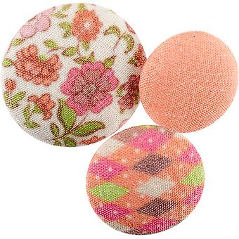 Fabricraft - Fabric Covered Buttons 8/Pkg-Sweet Floral