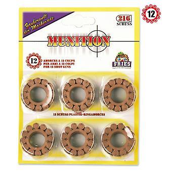 12 anillo de munición de anillo de durée munición pistola pistola