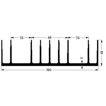 Heat sink 0.85 C/W (L x W x H) 75 x 180 x 48 mm Fischer Elektro