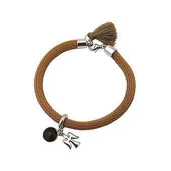 Gemshine - Damen - Armband - 925 Silber - Edelstein - Rauchquarz - Engel - Braun