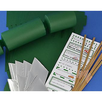 Single Jumbo Deep Green Make & Fill Your Own Cracker Making Craft Kit