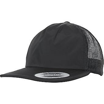 Flexfit trucker Unstructured Snapback Cap - Black