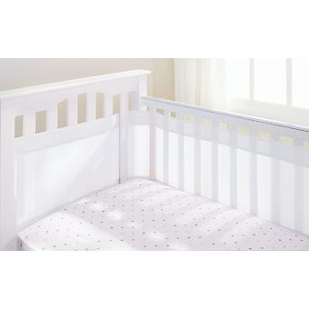Breathable Baby Airflow 4 Sided Cot Liner White